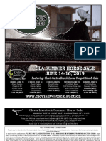 Clovis Horse Sales Summer 2019 Catalog