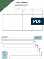 grade level meeting sheet portfolio