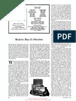modern man is obsolete