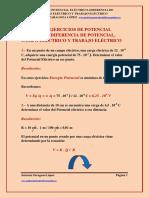 Tema12 Ejercicios de Potencial Electrico Diferencia de Potencial Campo Electrico y Trabajo Electrico Primero Bachillerato