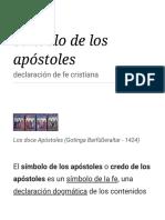 Símbolo de Los Apóstoles - Wikipedia, La Enciclopedia Libre