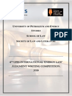 Brochure 4th UPES Judgment Writing Competition 2019