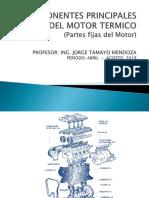 Partes Fijas y Moviles Del Motor