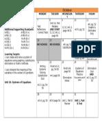 unit 1 part b calendar