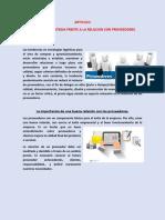 ARTICULO LA MEJOR ESTRATEGIA FRENTE A LA RELACION CON PROVEEDORES.pdf