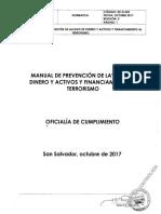 Manual de Lavado de Dinero y Activos Octubre 2017