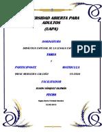 Didáctica Especial de La Lengua Española Tarea 1