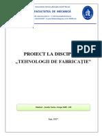 Tehnologia Prelucrarii Unui Disc de Frana