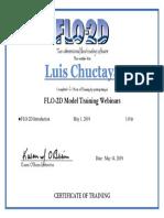 2019 Webinar Certificate, Chuctaya