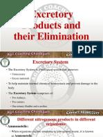 Excretory Product & Their Elimination