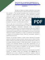 Estudio Hidrologico Defensa Ribereña