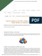 Tipos de Variables en Visual Basic - Ejemplos