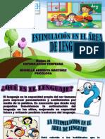 Estimulación en El Área de Lenguaje - Presentacion