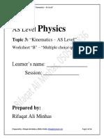 3 - Worksheet-Kinematics- B (1)