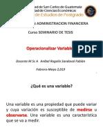 Operacionalizacion de Variables ST2019