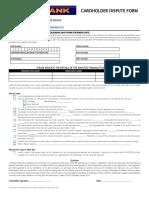 Cardholder Dispute Form V3