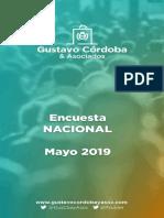 Encuesta Nacional- Mayo 2019 - Gustavo Córdoba y Asociados.