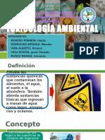 TOXICOLOGÍA AMBIENTAL ppt