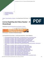 Livros Espíritas de Chico Xavier – E-books Para Download _ Espiritismo Brasil