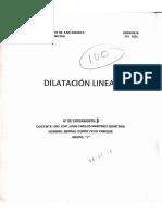 Dilatacion Lineal - Fis 102L (Bernal Enrique - UMSA)