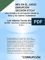 Corrupcion Una Opción Una Decisión 2016 Secree