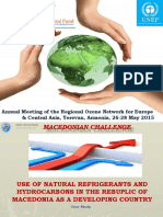 Macedonian Challenge - Natural Refrigerant and Hydrocarbons