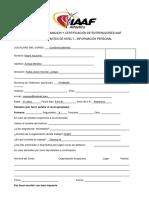 Sistema de Formacion y Certificación de Entrenadores Iaaf