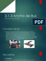 Ancho de Bus
