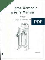 Reverse Osmosis User's Manual