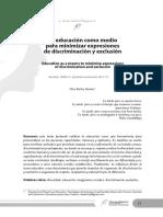La Educación Como Medio Para Minimizar Expresiones de Discriminación y Exclusión