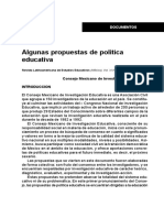 Algunas Propuestas de Politica Educativa