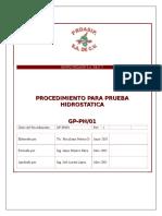 4-GP-PH-01 Procedimiento Para Pruebas Idrostaticas
