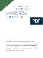 SELECCIÓN DE LOS COMPONENTES