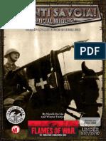 Flames of War III (Intelligence Briefing) - Avanti Savoia