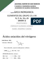 Clase 10 Sem 7 - Acidos Oxiácidos Del Nitrógeno