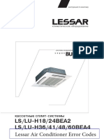 Lessar Air Conditioner Manual and Error Codes