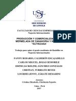 2017 Calderon Produccion y Comercializacion de Mermelada de Zanahoria