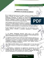 Acuerdo de opositores Bolivia