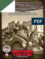 Flames of War III (Intelligence Briefing) - 12th Manitoba Dragoons