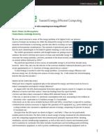 Toward Energy-Efficient Computing