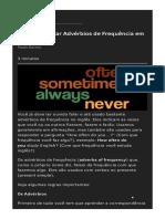 Aprenda a Usar Advérbios de Frequência Em Inglês
