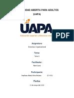 Estructura Organizacional Tarea 1