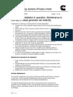 Maintenance Instruction V03