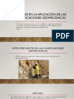 Errores en La Aplicación de Las Clasificaciones Geomecánicas