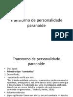 Personalidade Paranoide Espec 2018