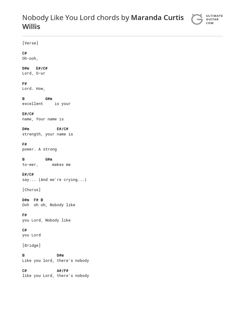 Nobody Like You Songs Musical Forms Song your cheatin' heart by hank williams, sr., song lyric for vocal performance plus accompaniment chords for ukulele, guitar, banjo etc. nobody like you songs musical forms