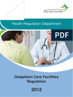 Outpatient Care Facilities Regulation