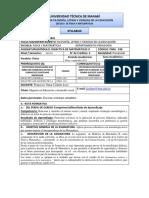 Sillabus de Didáctica de Matematica II. Sexto. OMAR C.