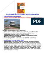 Programação Cultural - SNHM 2009