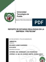 Reporte Estadía Rolando Lainez Gro